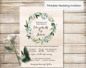 Printable Wedding Invitation, DIY Wedding Invitation, Printable Custom DIY Wedding Customizable Wedding Invites Digital Wedding Invite 11