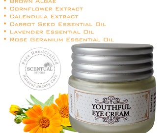 Natural Anti-aging EYE CREAM treatment for dark circles, wrinkles & Puffiness, Vegan Eye Treatment