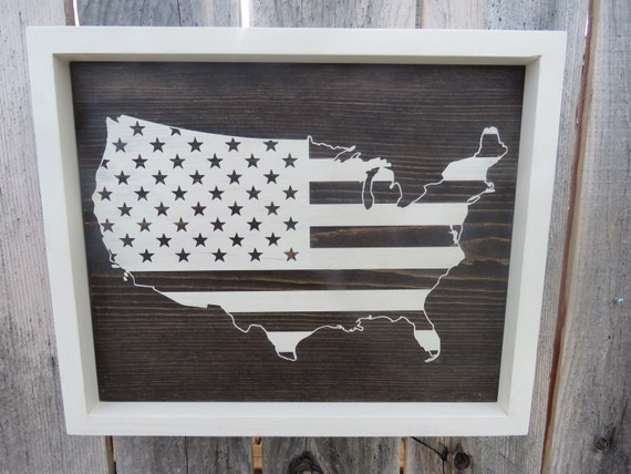designcreatelove307 - USA Map/American Flag- Custom Wooden Sign ...