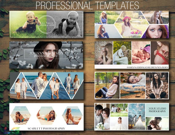 Facebook Cover Po Collage Template Poshop | Beautiful Facebook Cover Templates Photography Marketing