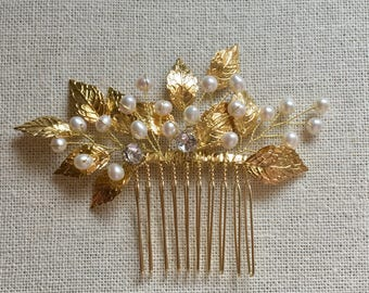 Rose Gold Bridal Hair Comb, Wedding Hair Accessories, Bridal hair accessories, gold wedding accessories, Bridal comb pearl