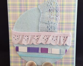 Girl Baby Carriage Card