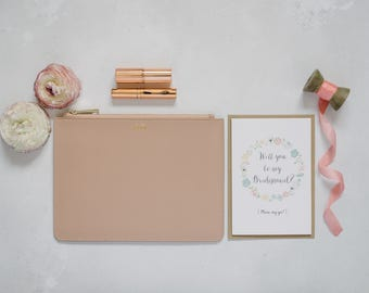 Saffiano Leather Bridesmaid Clutch - Bundle Offer