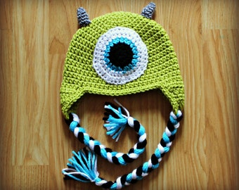 Crocheted Monster Hat - ALL SIZES