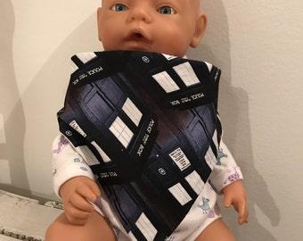 Dr Who baby dribble bib/bandana