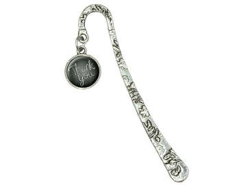 Thank You Handwritten Book Bookmark With Antiqued Charm