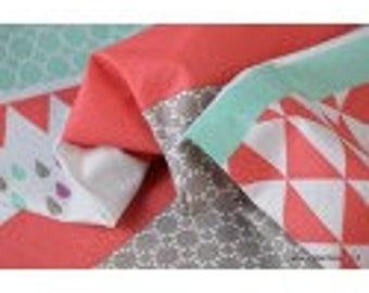 Drawing stripes printed cotton Poplin fabric geometric x50cm