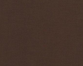 Kona Cotton Chocolate Brown half yard, Brown fabric Robert Kaufman, designer fabric 100% cotton fabric
