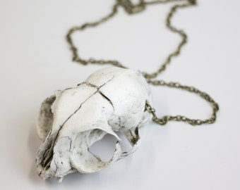Cat skull necklace replica