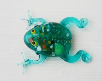Frog Glass Figurine, Blown glass animals, Mini Glass Figure, Collectible  Figurine, Glass Sculpture, Lampworking, statuette, Glass Miniature