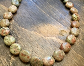 "Autumn Jasper Necklace 15"""