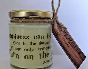 Quote Candle, Scented Jar Candle gift, Halloween, Pagan, Wicca, Soy wax, Christmas, Magic, Gift, Yule, Samhain, Gothic