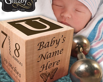 Personalized Baby Blocks, Personalized Gift, Newborn, Birthday, Baptism Gift, Baby Shower Gift