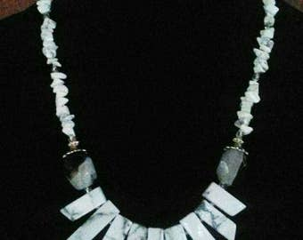 Gorgeous Howlite Natural stone necklace
