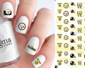 Pittsburgh Steelers Nail Decals (Set of 50)