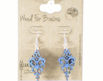 "Laser Cut Wooden Earrings - ""Mini-Fili"""