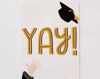YAY! Graduation Card - Blank Card Set Baylor University Congrats Grad Cards College Gift Congratulations Bearly Southern Co
