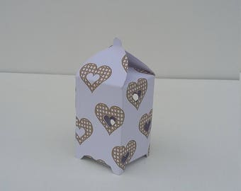 Mini Golden Heart Gift Box Set of 12