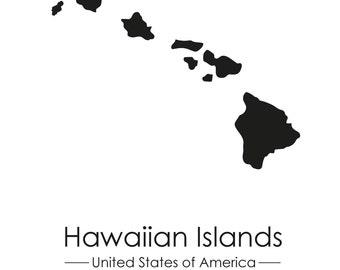 Hawaii Islands Poster
