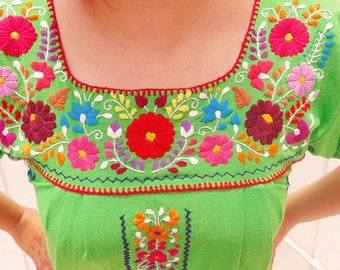 Hand Embroidered Dress, Oaxacan Dress, Mexican Dress Cotton, Maternity Dress, Tunic Mexican, Mexican Embroidered Dress, Mexican Mini Dress