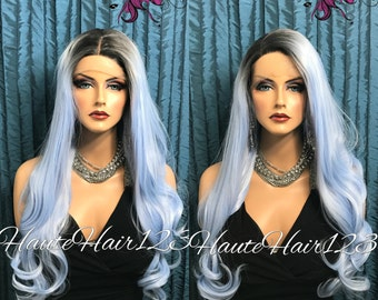 Powder Blue Ombre Lace front Wig