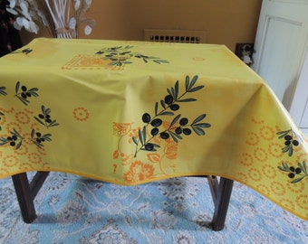 FRENCH PROVENCAL OilCloth/Wax-cloth Tablecloth, Stain Resistant, Indoor-Outdoor Tablecloth