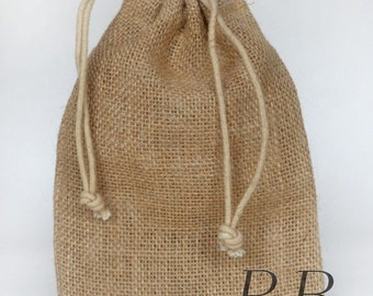 "Ribbon Bazaar Jute Burlap Bags 5"" X 7"" Packs of 12"