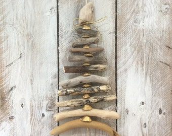 Driftwood and Seashell Tree Mobile
