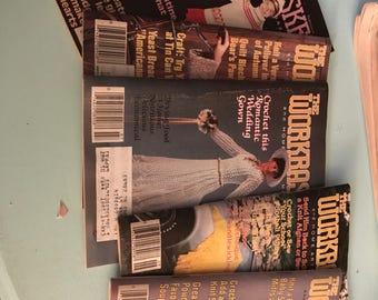 The Workbasket set of 5 vintage magazines