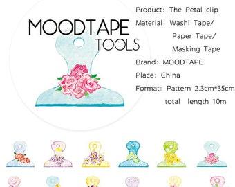 Flower Washi Tape The Petal clip,scrapbook stickers,DiY,Paper Decorative masking Tape