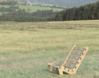 Lounge Chair - Great for sitting at a campfire, relaxing in the sun, playing the guitar, or just kicking back and enjoying life - Wooden