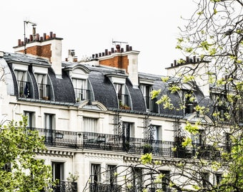 Paris Rooftops - Paris Photography - Wall Art Print - Paris Decor - Architecture - Fine Art Photography  - Montmarte Rooftops - 0004
