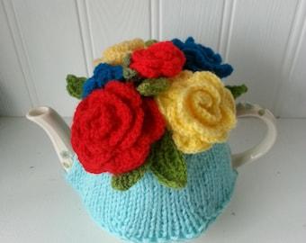 vintage roses tea cosy