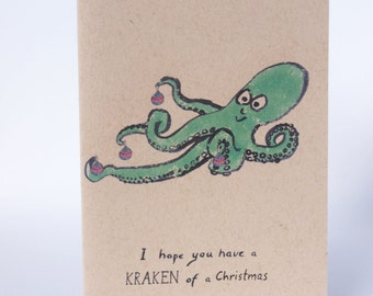Christmas Card - Kraken of a Christmas