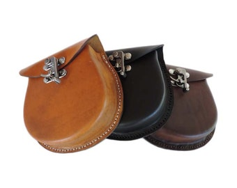 Leather Sporran-Various Colors