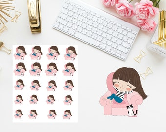 Lazy day girl Planner Sticker