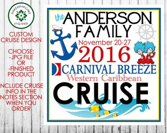 ROYAL CARIBBEAN CRUISE ~ Royal Caribbean Door Magnet Design ~ Any Cruise Line ~ Family Magnet ~ Jpeg file or Finished Magnet