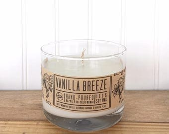 Vanilla Breeze 100% Soy wax hand-poured 10oz Candle