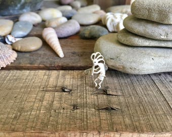 Vintage Sterling Silver Hopi Style Kokopelli the Flute Player Ring