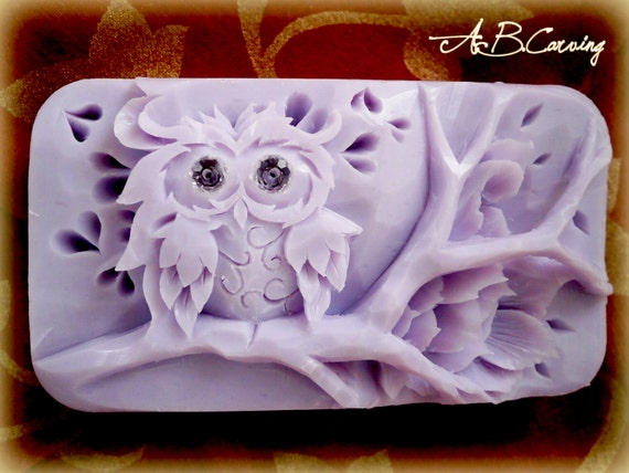 40%OFF funny owl soap, owl soap sculpture, hand carved soap, kids owl soap, owl soap gift, carving soap figure, soap carved bird, owl soap