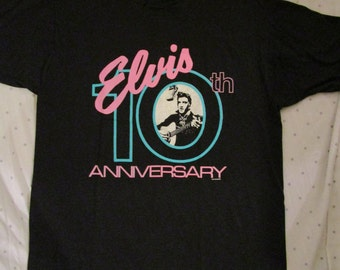 Vintage Elvis Presley Shirt 10th Anniversary 1987 Shirt Rare Johnny Cash Jerry Lee Lewis Carl Perkins Sun Records Rockabilly Shirt
