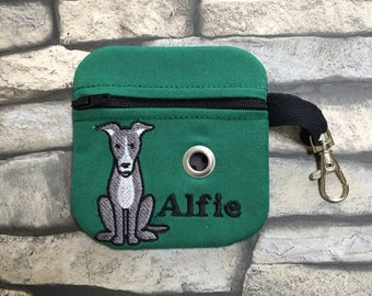 Personalised gift, Dog poop bag holder greyhound design ( other breeds available ) spaniel, husky, poodle, chihuahua, dachshund, dog gift