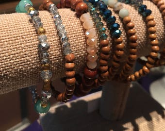 STRATI Boho beaded bracelets