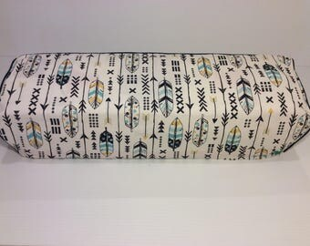 Cricut Maker and Cricut Explore/ Air/ Air 2/ One Dustcover Custom Handmade Blue/Yellow Arrows with Navy Piping