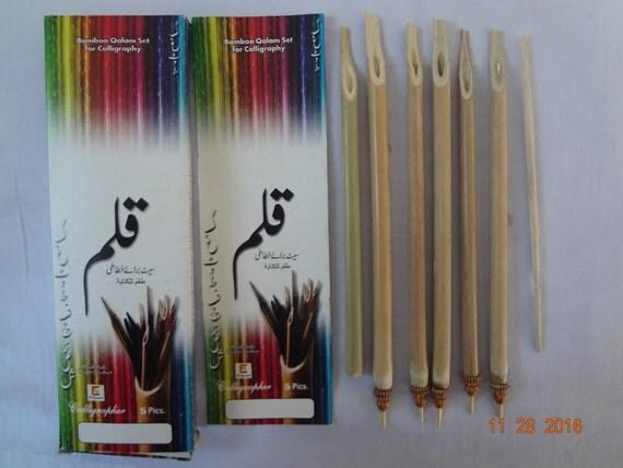 7x Professional Calligraphy Pen Arabic Urdu Farsi Qalam Kalam