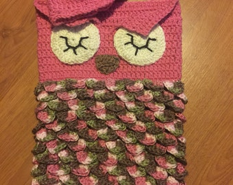 Pink Camo Owl Cocoon