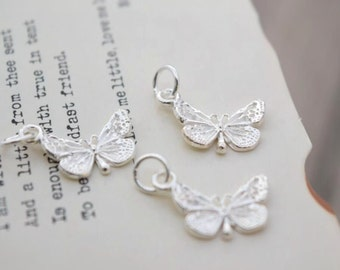 3 pcs sterling silver butterfly charm pendant  NR1