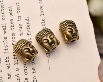 20 buddha spacer beads spacers bead antique bronze tone  (HH01)