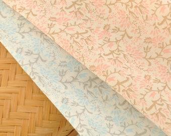 Floral Cotton Gauze Fabric MT038