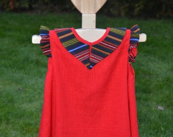 Handwoven&sewn dress for girl